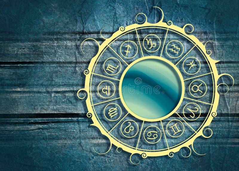 Символы астрологии в круге стоковое фото