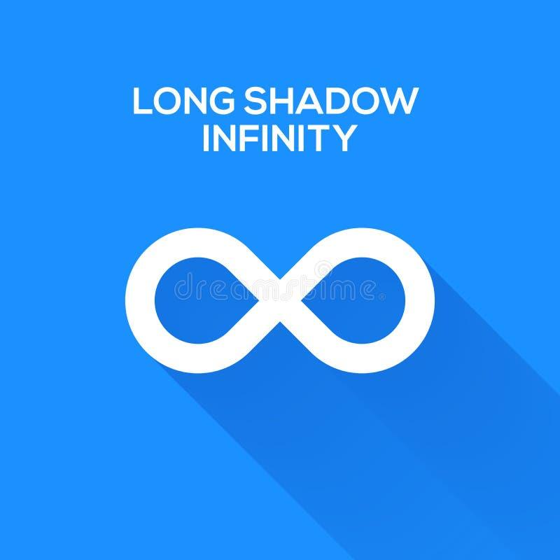 Символы безграничности с длинной тенью иллюстрация штока