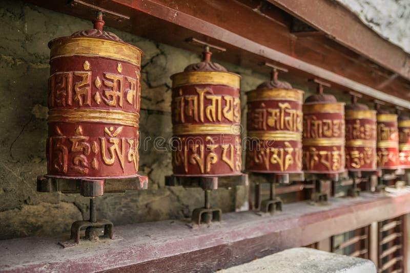 Символы буддистов в Непале, следе Annapurna стоковое фото