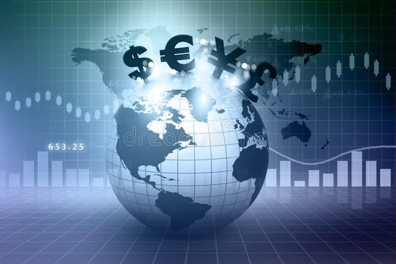 Символы валюты на земле бесплатная иллюстрация