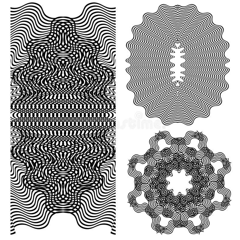 Символы волны иллюстрация вектора
