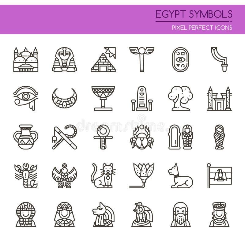 Символы Египта иллюстрация вектора
