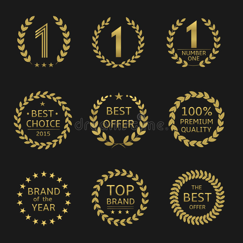 Символы награды иллюстрация вектора