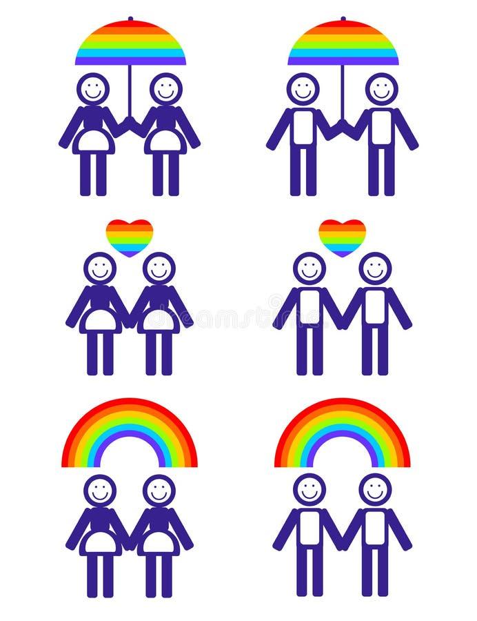 Символы пар гомосексуалиста бесплатная иллюстрация