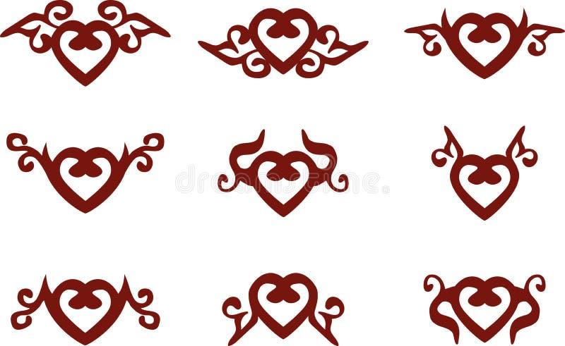 Символы сердца иллюстрация штока