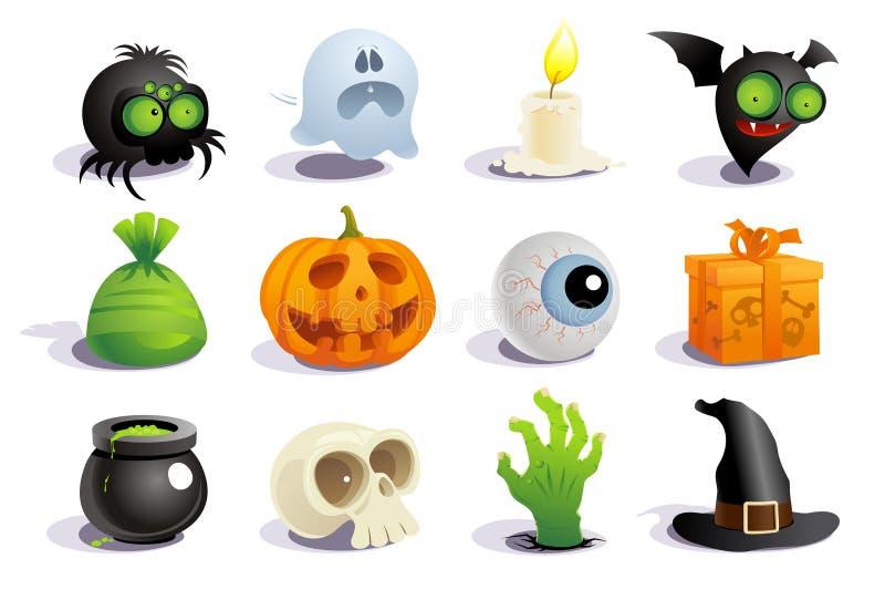 Символы хеллоуина. бесплатная иллюстрация