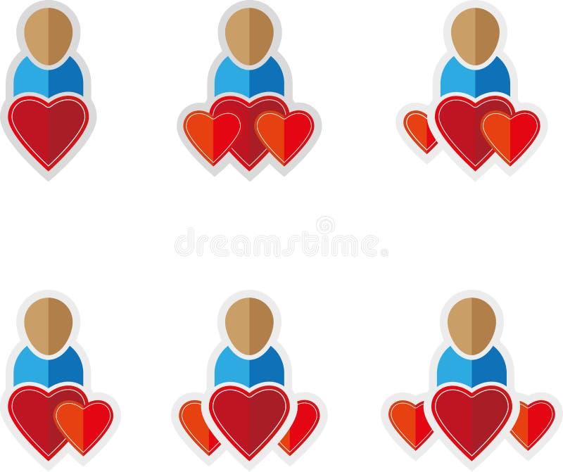 Символы людей плоские иллюстрация вектора