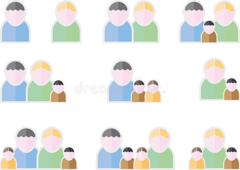 Символы людей плоские бесплатная иллюстрация