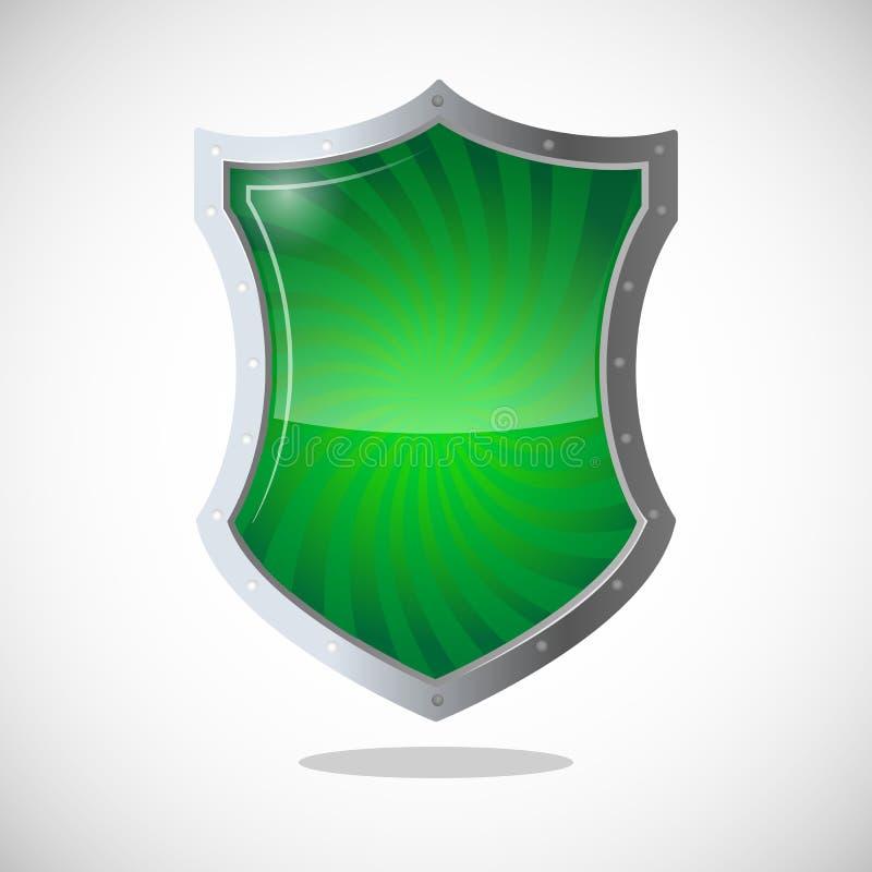Символ экрана панцыря защиты, обороны, и безопасности иллюстрация штока
