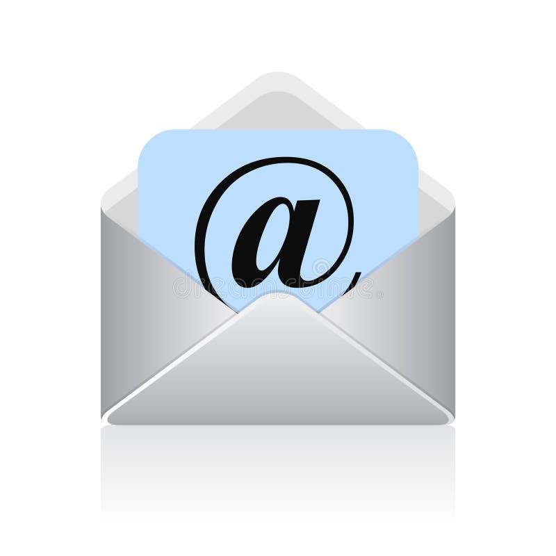 Символ электронной почты вектора иллюстрация штока