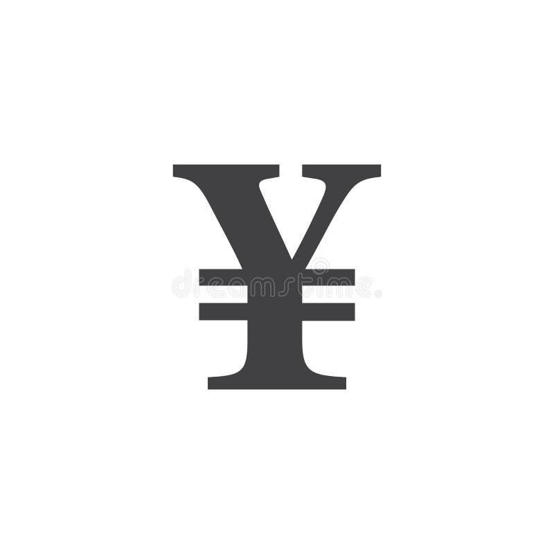 Символ японских иен знак, твердая иллюстрация логотипа, picto иллюстрация штока