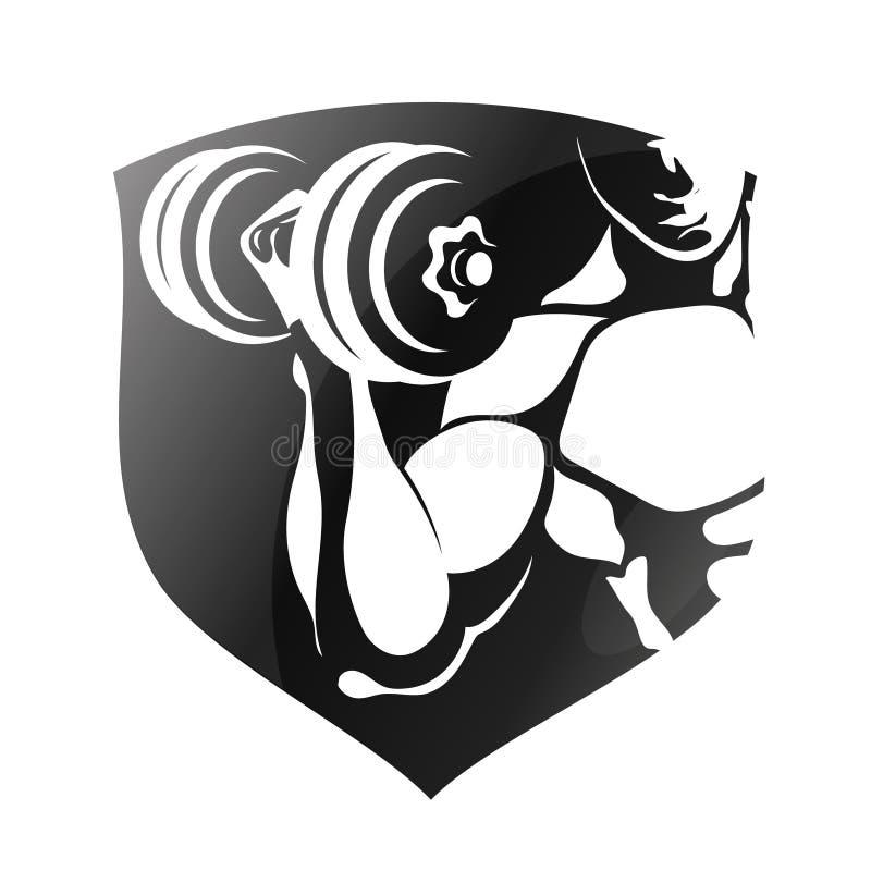 Символ для гимнастики и спортзала иллюстрация вектора