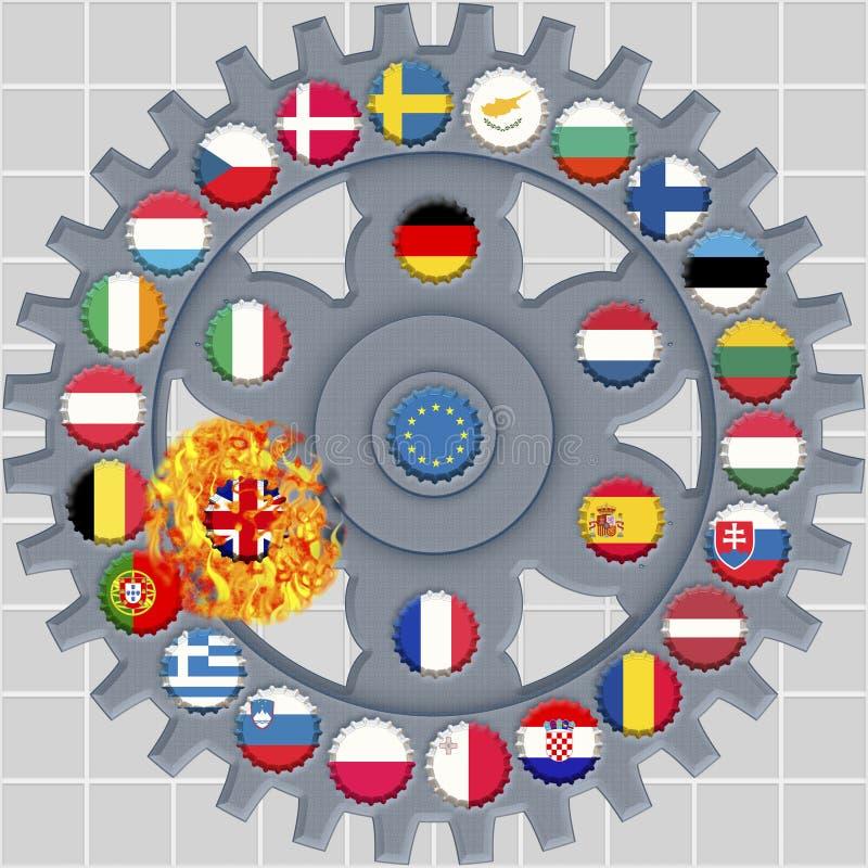 Символ для Brexit иллюстрация вектора