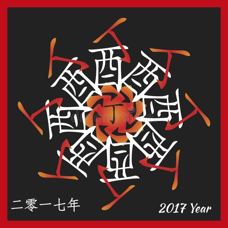 Символ 2017 иллюстрация вектора