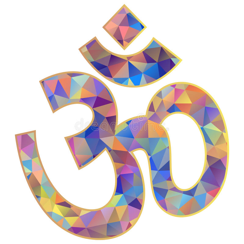 Символ Om на белой предпосылке