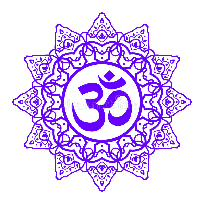 Символ Om Aum иллюстрация вектора