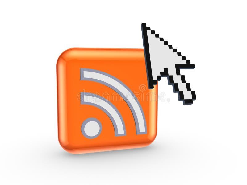 Символ RSS. иллюстрация штока
