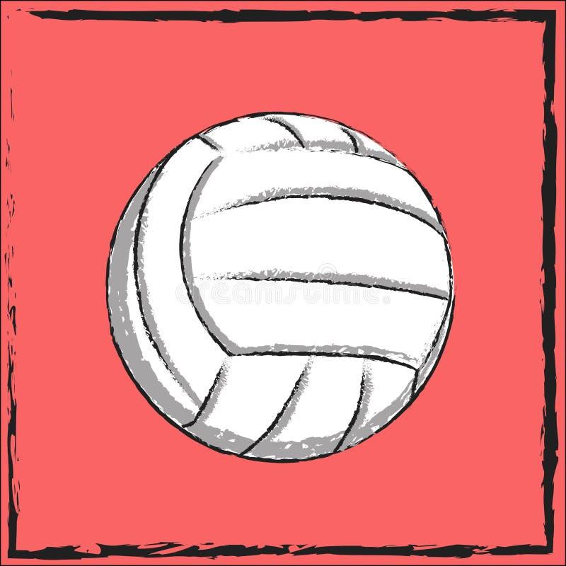 Символ volleybal стоковая фотография rf