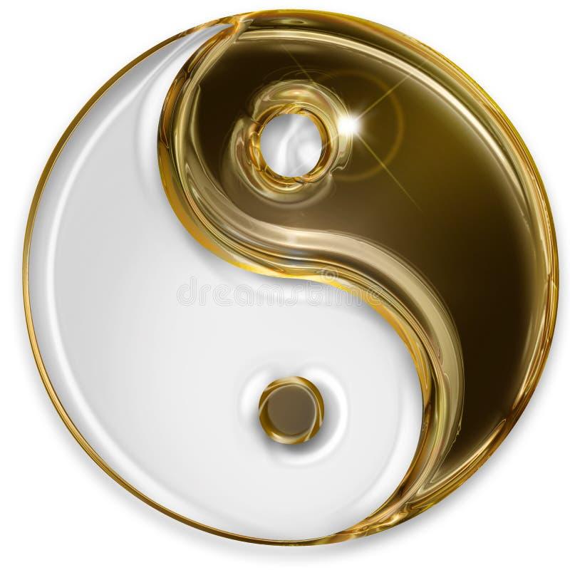 Символ Yin yang иллюстрация штока