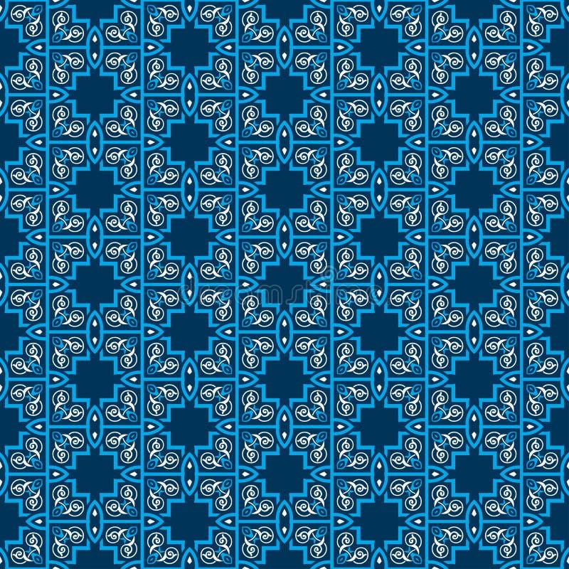 Симметрии безшовной картины декоративные, иллюстрация вектора картины орнамента бесплатная иллюстрация