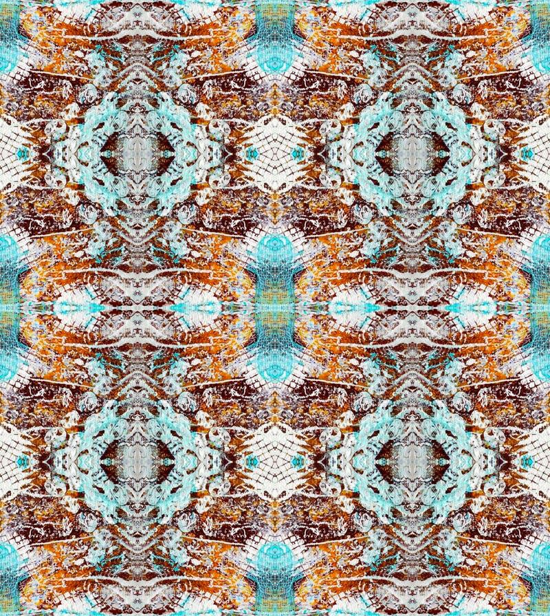 Симметричная абстрактная текстурная картина картина безшовная Основанный на странице мультимедиа Scrapbook иллюстрация штока