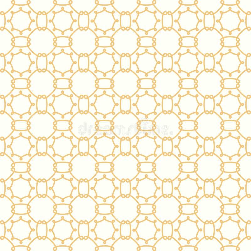 Симметричная желтая геометрическая ткань вектора форм иллюстрация вектора