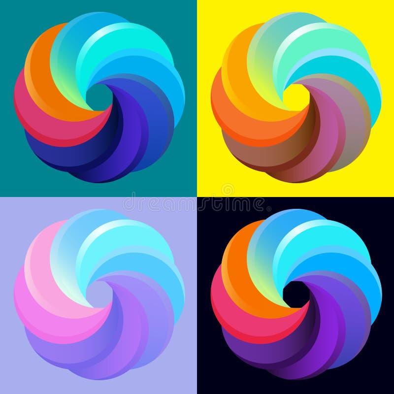 Симметричные абстрактные геометрические форма, символ дела или дизайн логотипа, петля r иллюстрация вектора