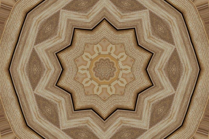 Симметричный uniquelly высекаенный орнамент на древесине цифров произвел стоковая фотография rf