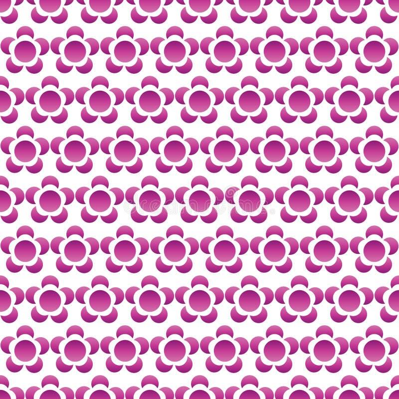 Симметрия градиента силуэта цветка небольшая безшовная иллюстрация вектора