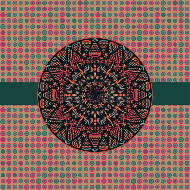 симметрия темного элемента карточки круглая иллюстрация вектора