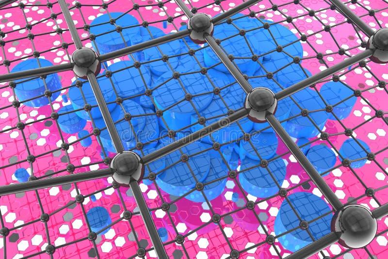 симметрия nanotubes угля бесплатная иллюстрация