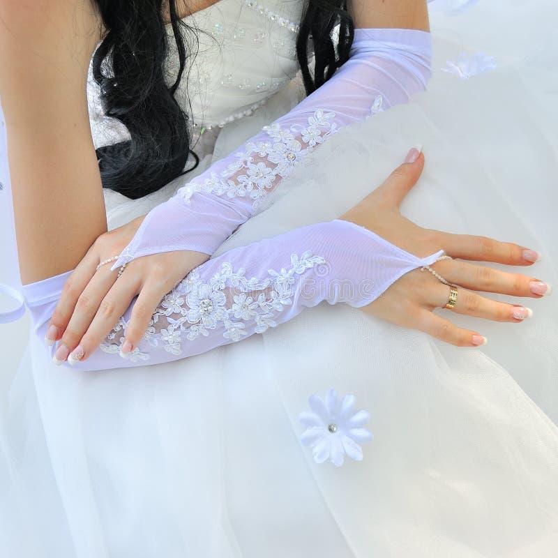 Симпатичная кавказская красивая невеста женщины стоковая фотография rf