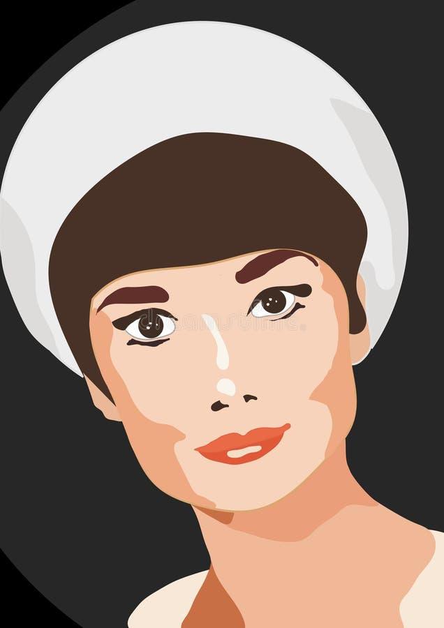Симпатичная молодая женщина, красивый взгляд и меньший нос стоковые изображения