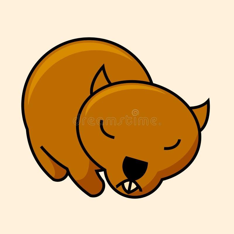 Симпатичное wombat, значок бесплатная иллюстрация