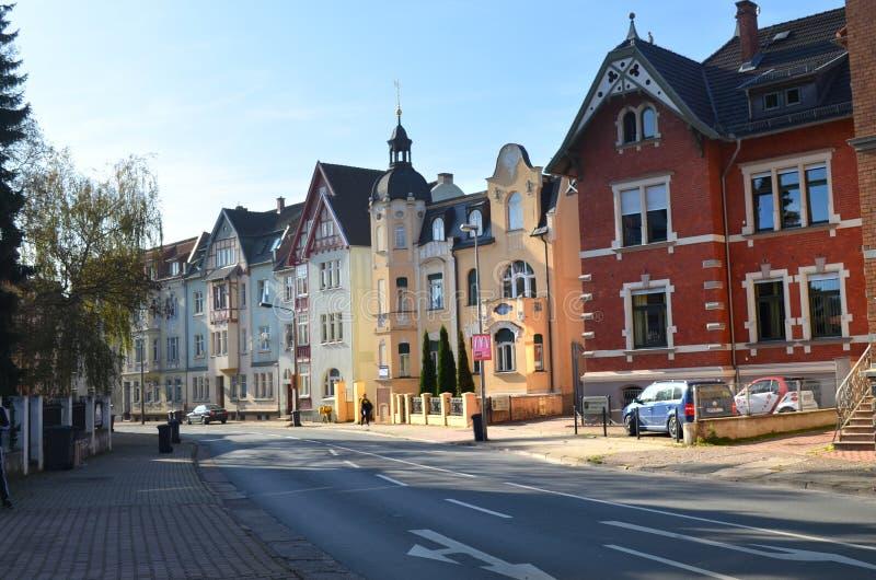 Симпатичные здания Нордхаусена стоковое изображение