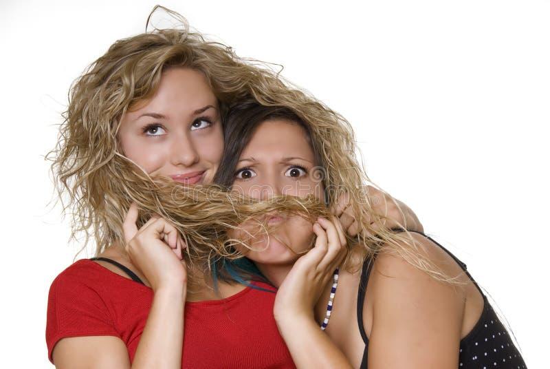 симпатичные сестры стоковое фото