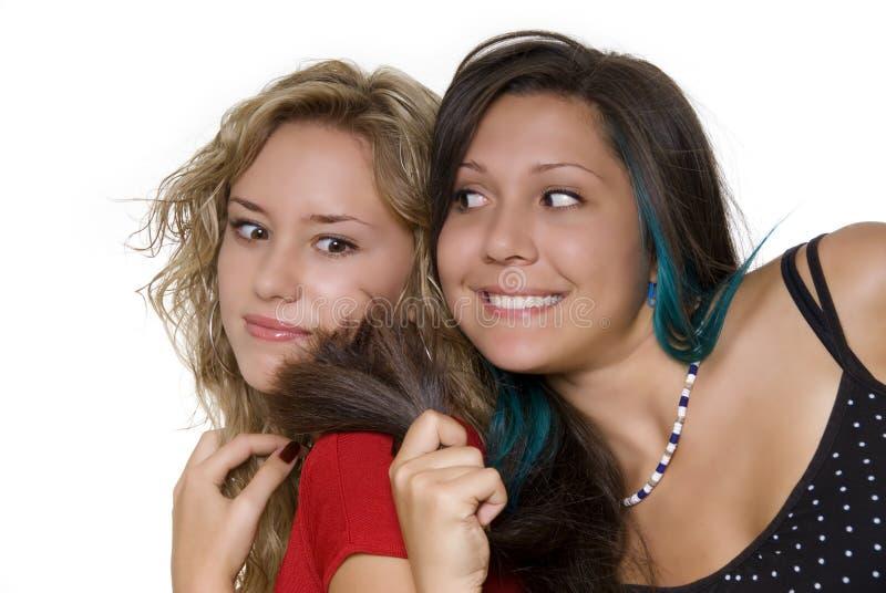 симпатичные сестры стоковое изображение rf