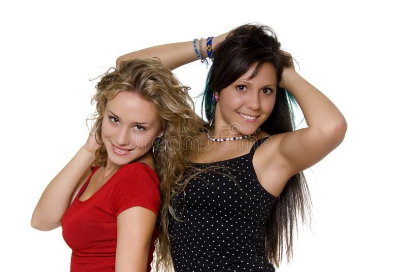 симпатичные сестры стоковое фото rf