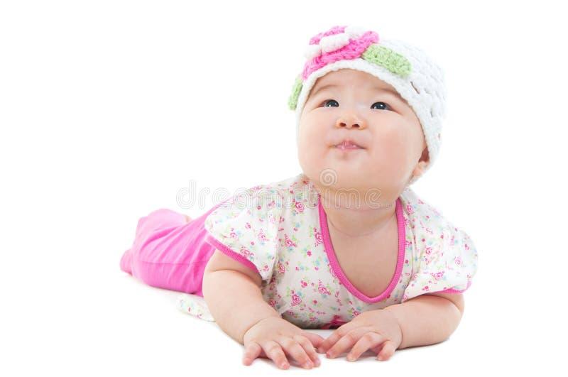 Симпатичный азиатский младенец стоковое фото rf