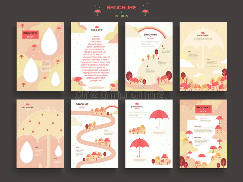 Симпатичный шаблон брошюры иллюстрация штока