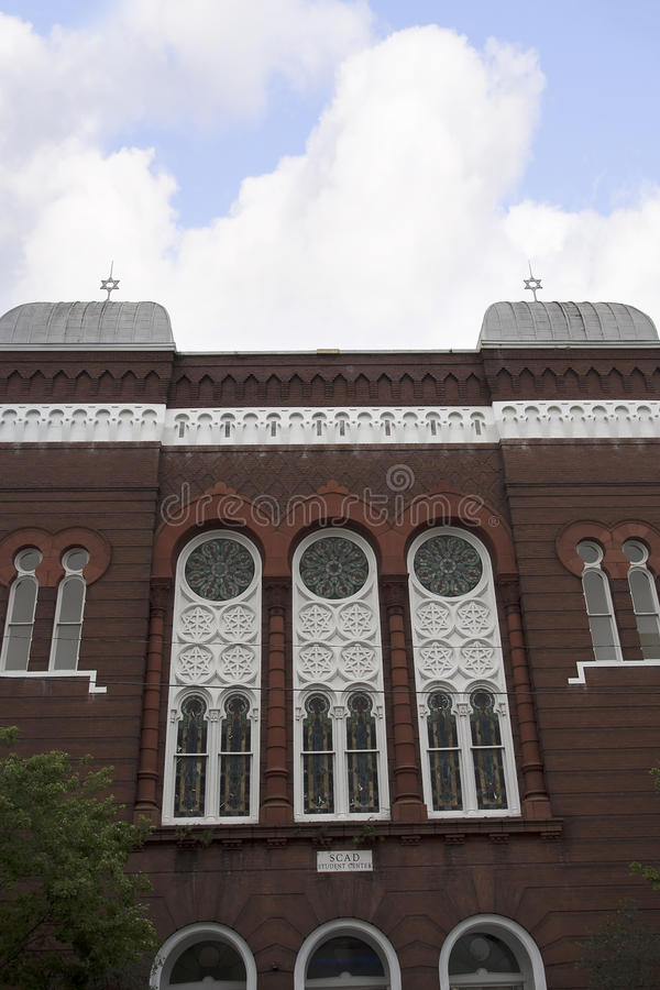 Синагога в саванне в Georgia США стоковое изображение rf
