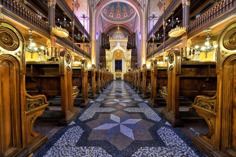 синагога budapest стоковые изображения