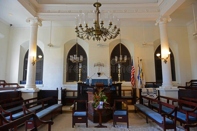 Синагога St. Thomas, Шарлотта-Амалия, США Виргинские острова стоковое фото rf