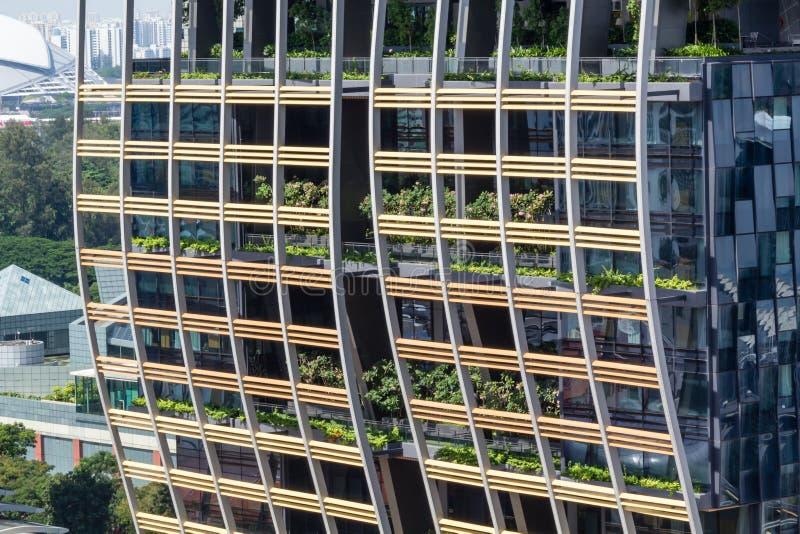 Сингапур городской, южная башня пляжа, гостиница Marriott стоковая фотография