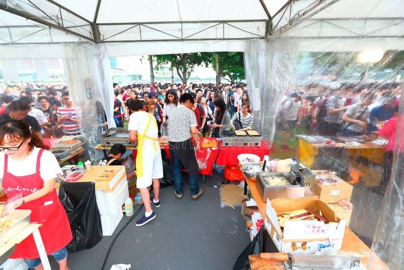 Сингапур; Еда справедливая стоковая фотография