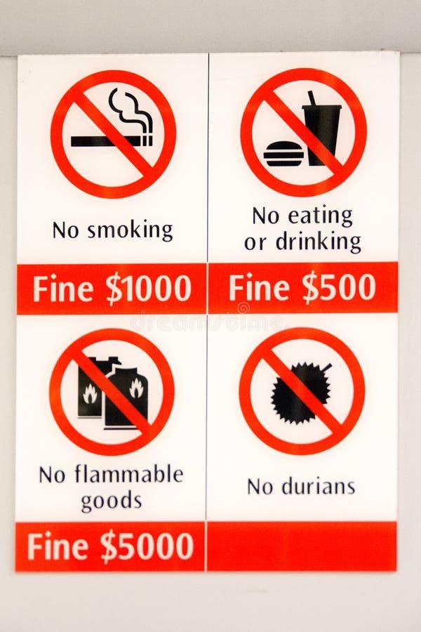 Сингапур - запрещенные детали стоковое изображение rf