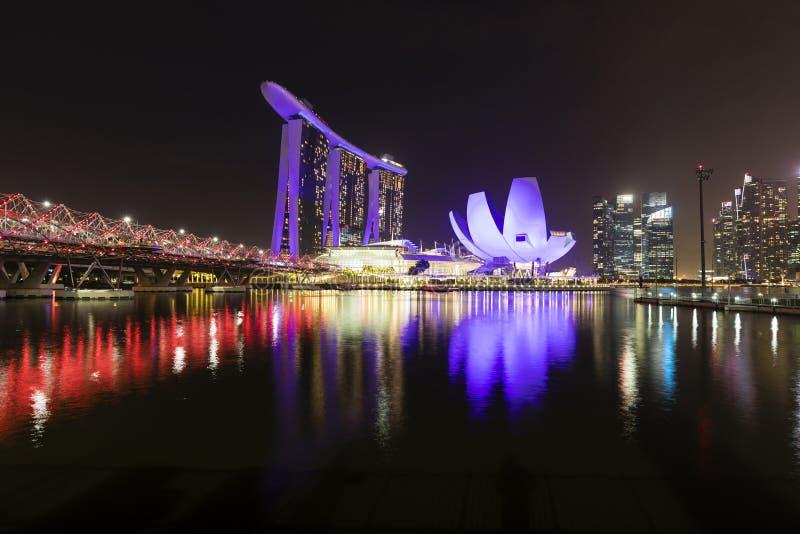 СИНГАПУР, 9-ое декабря 2017: Новый залив Марины зашкурит курорт в Сингапуре стоковое фото rf