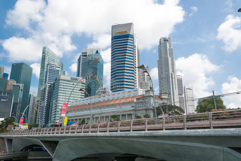 Сингапур - 15-ое июля 2015, город Сингапура стоковые изображения rf