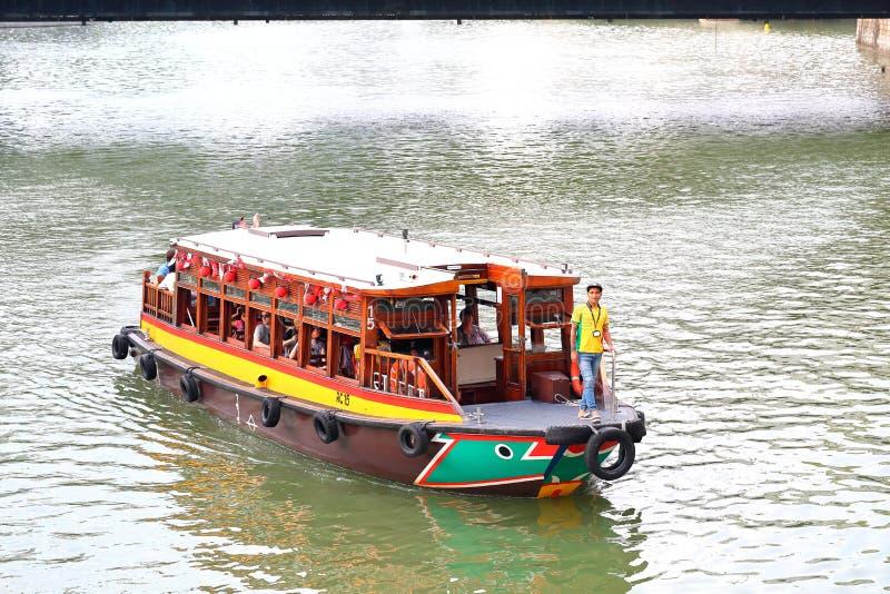 Сингапур: Такси реки стоковое фото rf