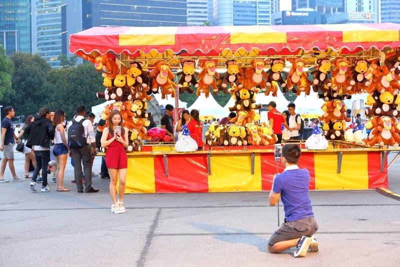 Сингапур: Ярмарка потехи стоковое фото rf